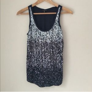 Express Blue Sequin Tank Top